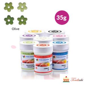 Tordiabi oliiviroheline geel-toiduvärv