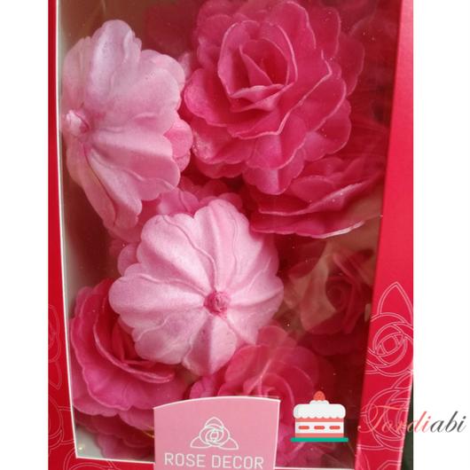 Tordiabi suured roosad käharad roosid 15 tk