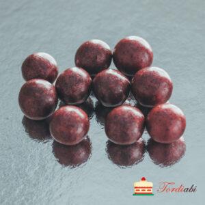 Tordiabi bordoopunased suured krõbedad sokolaadipallid