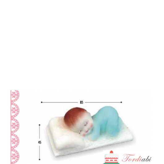 Tordiabi suhkrumassist tordikaunistus magav laps helesinine