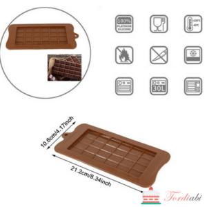 Tordiabi silikoonist šokolaaditahvli vorm