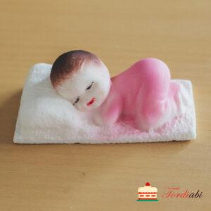Tordiabi suhkrumassist tordikaunistus magav laps roosa