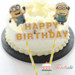 Tordiabi Minion topper happy birthday
