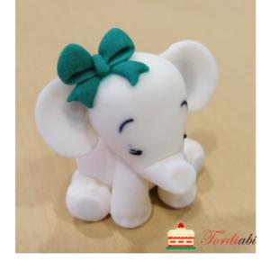 Tordiabi suhkrudekoor tordikuju valge elevant