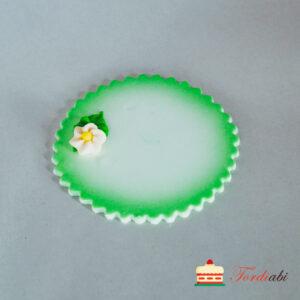 Tordiabi tordikaunistus rohelise servaga nimeplaat