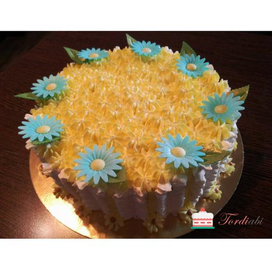 Tordiabi tordikaunistused vahvlidekoor sinised karikakrad