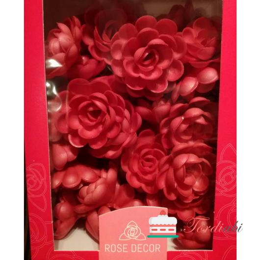 Tordiabi vahvlidekoor punased roosid