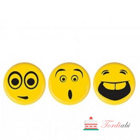 Tordiabi Grazy emotikonid šokolaadikaunistus