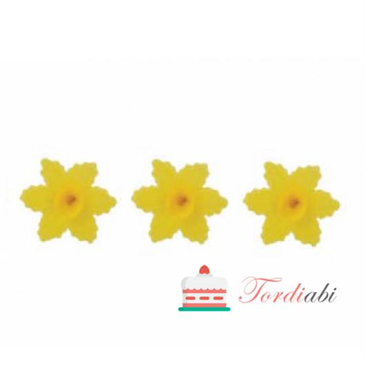 Tordiabi vahvlikaunistus nartsiss kollane