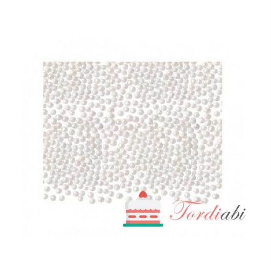Tordiabi väikesed valged nonparellid