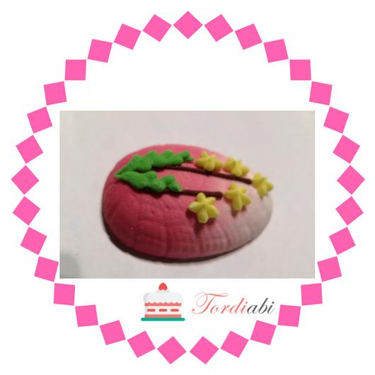 Tordiabi suhkrukaunistus lihavõttemuna roosa
