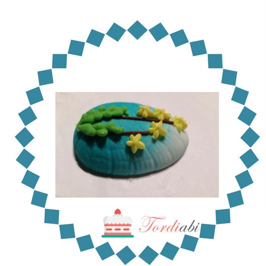 Tordiabi suhkrukaunistus lihavõttemuna sinine
