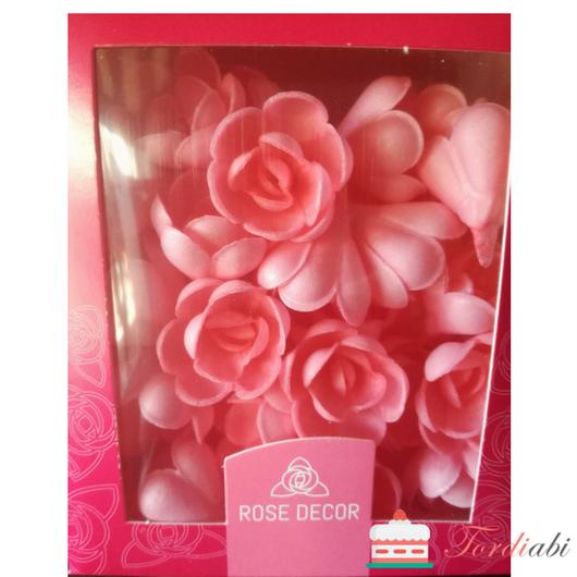 Tordiabi vahvlikaunistus roosad väikesed roosid 70