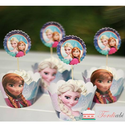 Tordiabi Elsa ja Anna topperid ja ümbrised