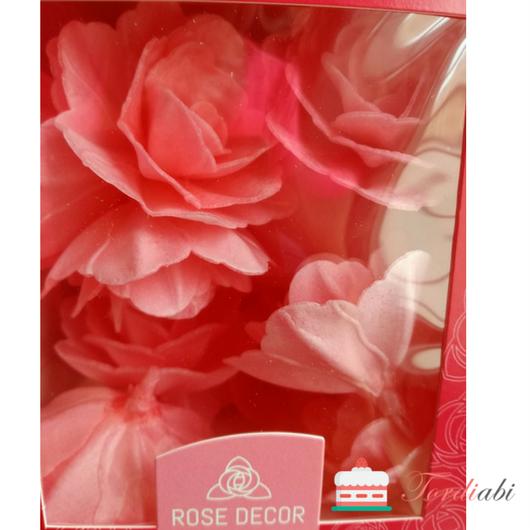 Tordiabi roosad vahvliroosid 18 tk