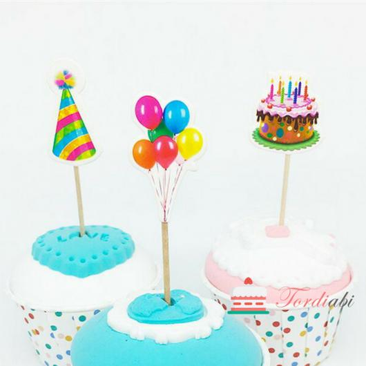 Tordiabi sünnipäevatopperid õhupallid