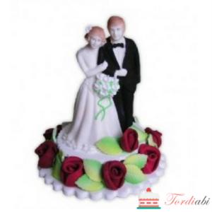 Tordiabi pruutpaar suhkrukaunistus