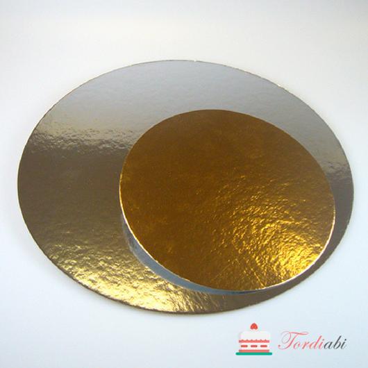 Tordiabi kuldne-hõbedane ümmargune aluspapp