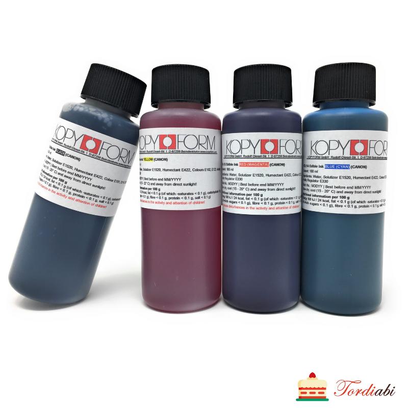 Tordiabi toiduprinteri värvide täitekomplekt