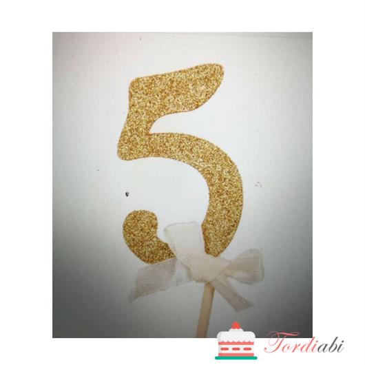 Tordiabi kuldne topper number 5
