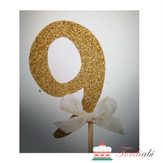 Tordiabi kuldne topper number 9