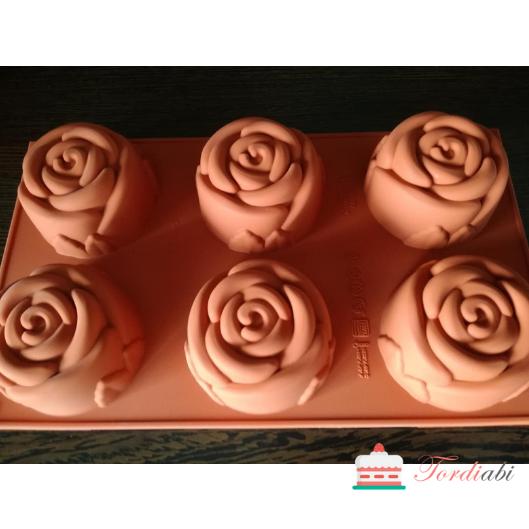 Tordiabi Silikomart silikoonvorm 6 roosi