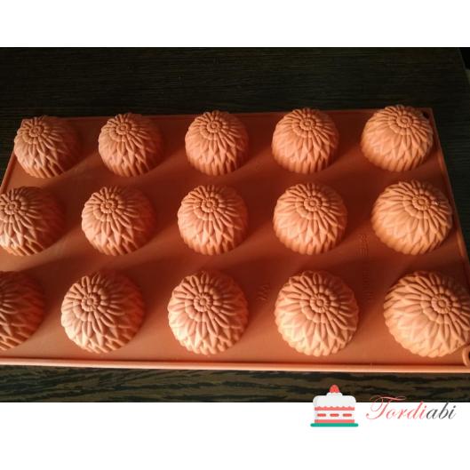 Tordiabi silikoonvorm krüsanteemid muffinid