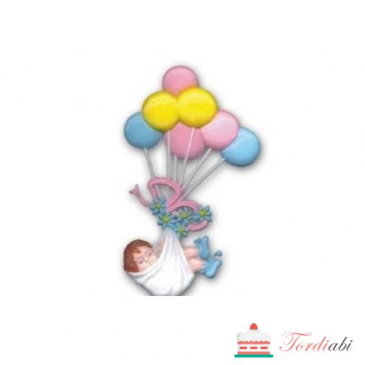 Tordiabi tordikaunistus beebi õhupallidega