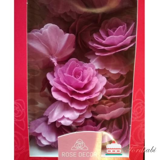 Tordiabi tordikaunistused lillad vahvliroosid 15