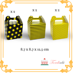 Tordiabi kollase-musta kirjud sangaga karbid