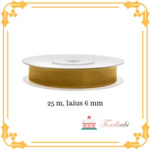 Tordiabi kuldne pael 6mm