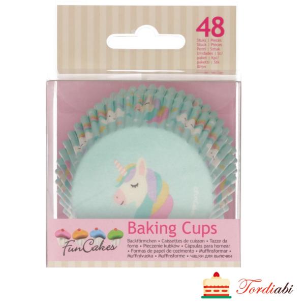 Tordiabi muffinivormid ükssarvikuga 48 FunCakes
