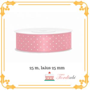 Tordiabi roosa täpiline tordipael