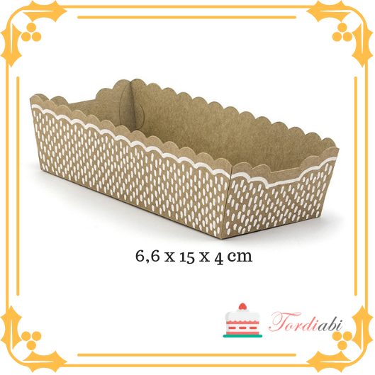 Tordiabi serveerimisalus 6,6 x 15 x 4 cm