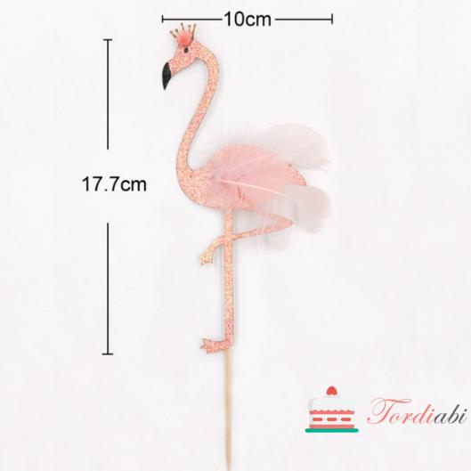 Tordiabi sulgedega flamingo mõõdud