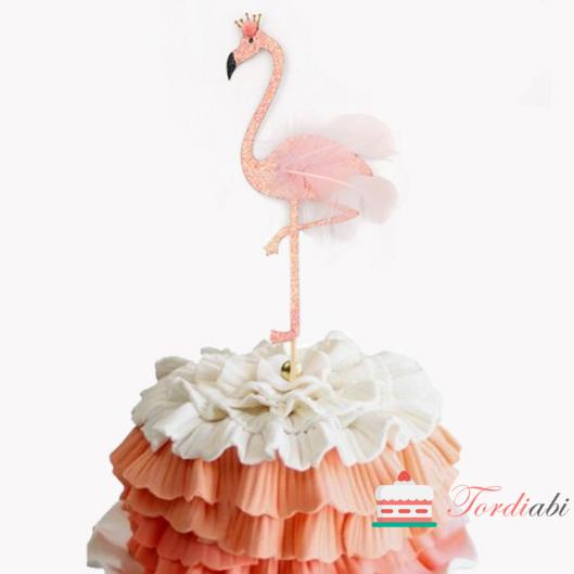 Tordiabi sulgedega flamingo