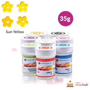 Tordiaabi päikesekollane geel-toiduvärv