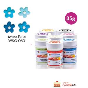 Tordiabi geel-toiduvärv sinine