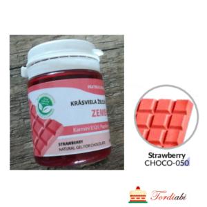 Tordiabi maasikapunane geel-toiduvärv šokolaadi