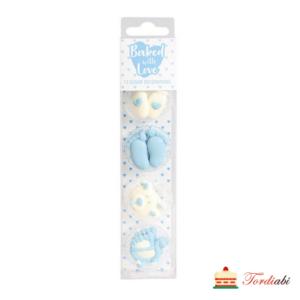 Tordiabi sinised beebi kaunistused