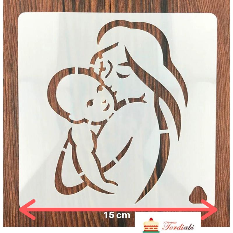 Tordiabi ema lapsega šabloon