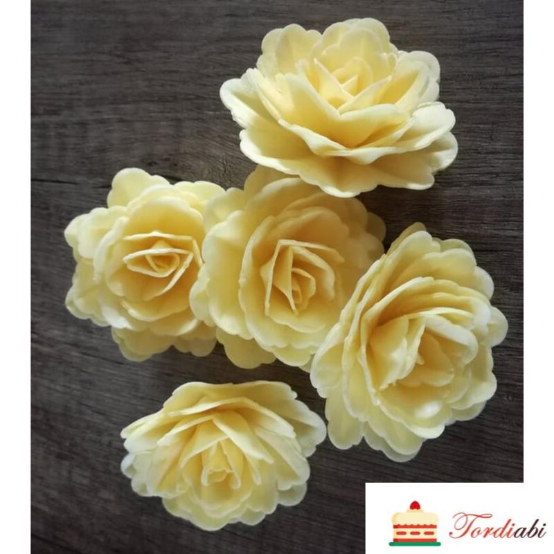 Tordiabi kollased käharad roosid