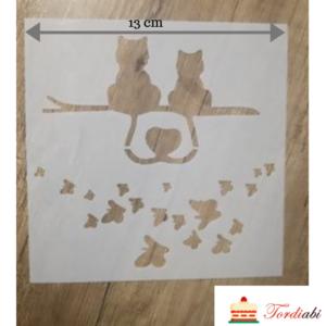Tordiabi šabloon kassid ja liblikad