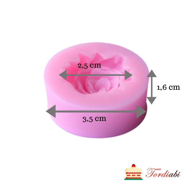 Tordiabi väike roosi silikoonvorm