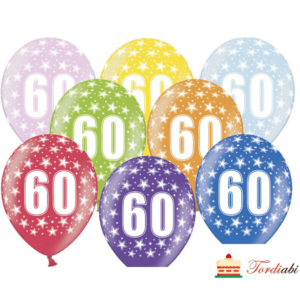 Tordiabi õhupallid number 60