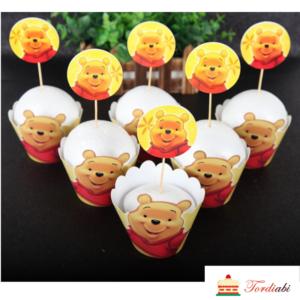 Tordiabi karupoeg puhh muffinite topperid