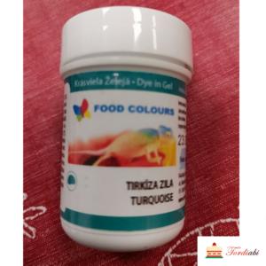 Tordiabi geel-toiduvärv türkiis