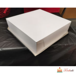 Tordiabi valge väike madalam tordikarp