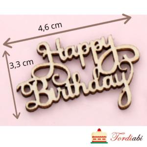 Tordiabi Happy Birthday puidust topper laser