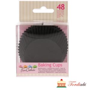 Tordiabi musta värvi muffinivormid 48 tk